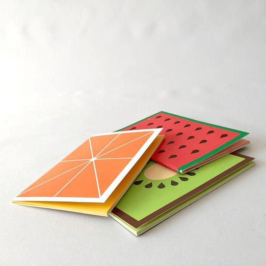 Set 3 libretas 24 hojas composición c/u olor a frutas