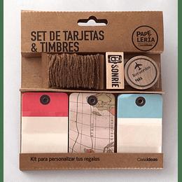 Set de tarjetas & timbres viajes