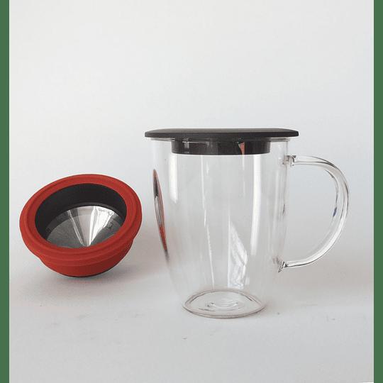 Mug Vidrio con Filtro