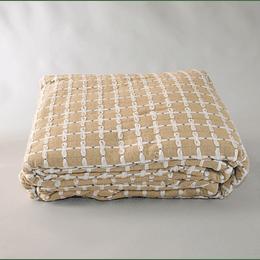 Cubrecama algodón 2 plaza beige