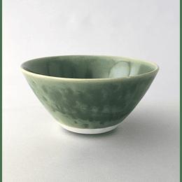 Ensaladera porcelana reactive verde