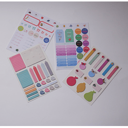 Set Stickers y Notas Adhesivas