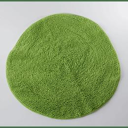 alfombra de baño redonda verde