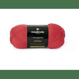 Lana Cotton 100% algodón premium rojo fuego 078
