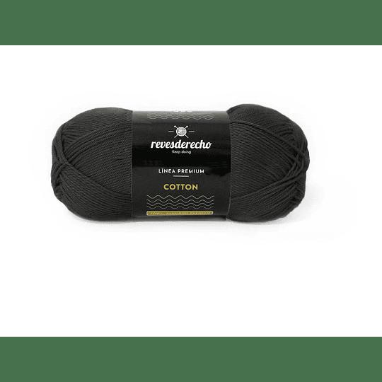 Lana Cotton 100% algodón premium negro 002