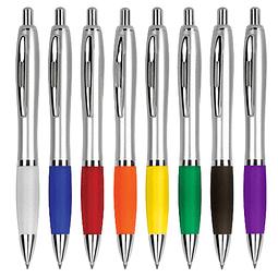 Lápiz plástico color metalizado