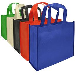 Bolsa Ecológica en tela TNT, 100% reciclable y reutilizable. Cuenta con 2 asas de 28 cm c/u aprox.