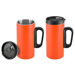 Mini-tazón para café, de Acero inoxidable doble pared aislante, cuerpo exterior color.