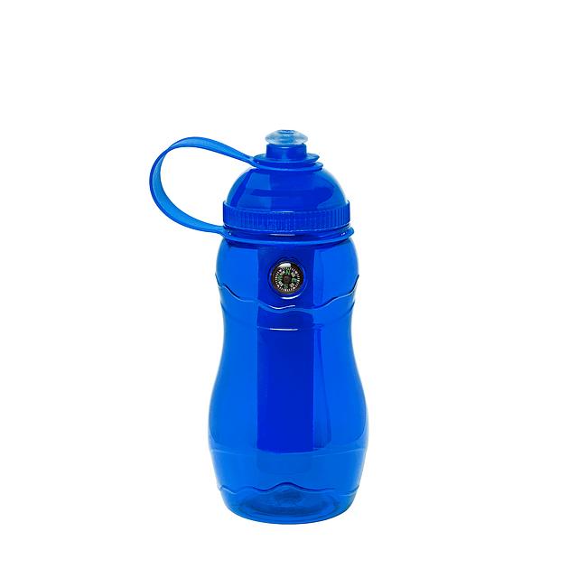 Capacidad: 500 ml. Plástico. Botella con cilindro extraíble, sirve para enfriar las bebidas.