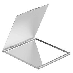 Espejo cuadrado de Aluminio con Tapa, para Cartera.