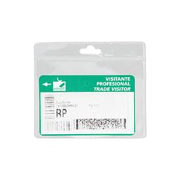 Porta-Credencial de PVC, para Credenciales tamaño Tarjeta de Crédito.