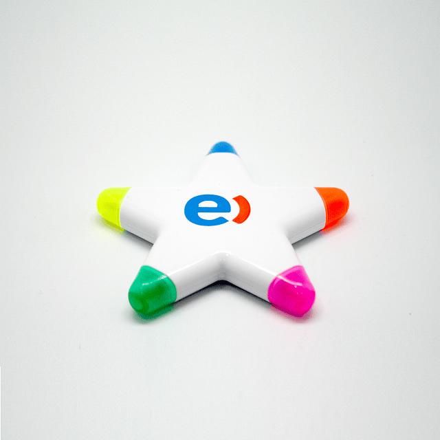 Destacador con forma, 5 colores
