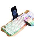 Pack Teclado porta celular + Mouse Gamer