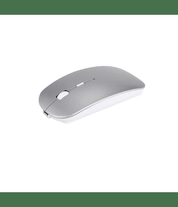 Mouse Inalámbrico recargable silencioso plateado