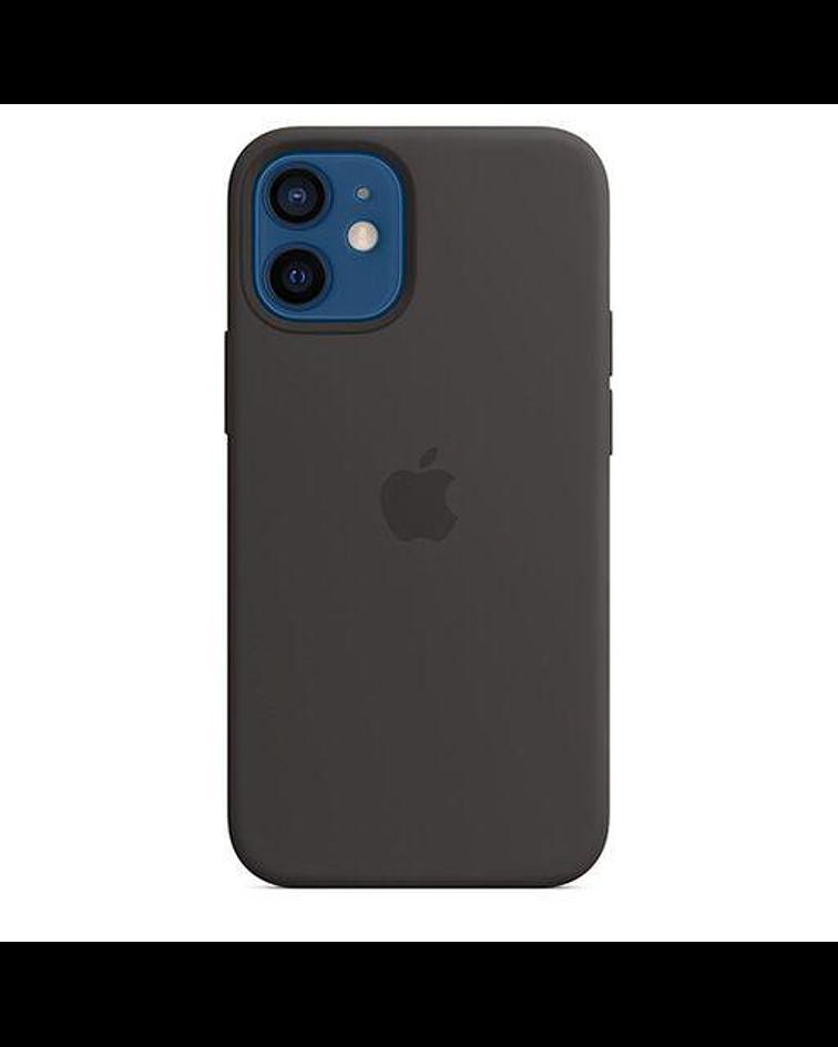 Funda Carcasa Silicona iPhone 12/12 PRO Magsafe Negro