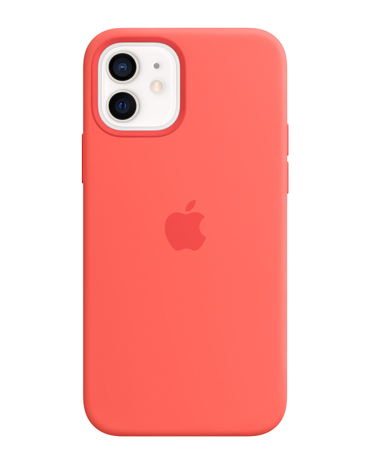 Funda Carcasa Silicona iPhone 12/12 PRO Magsafe Pink Citrus
