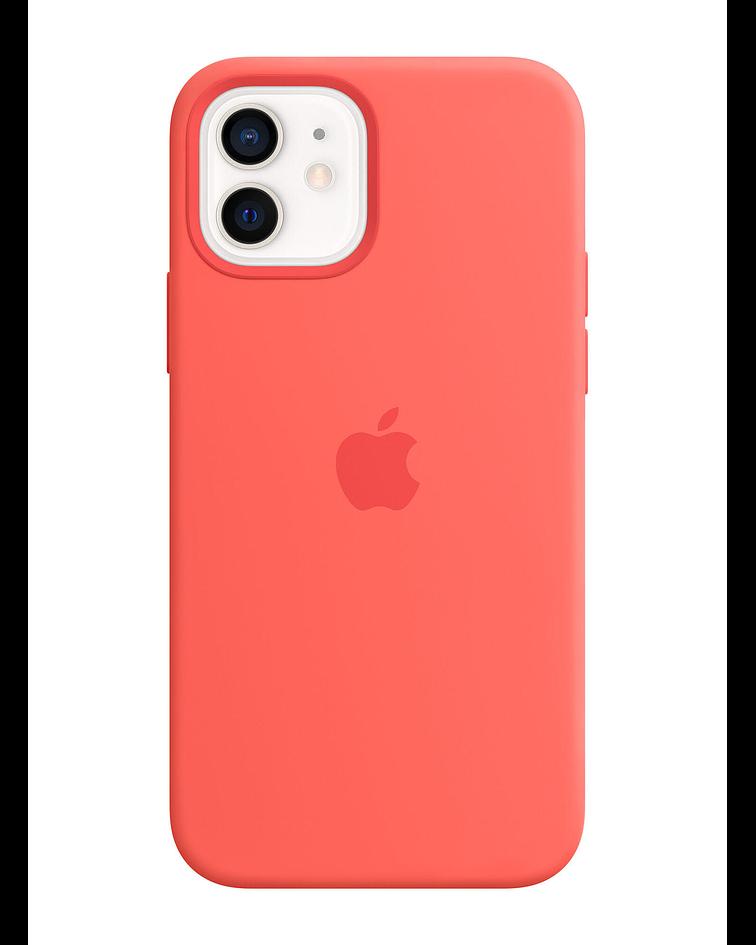 Funda Carcasa Silicona iPhone 12 PRO Max Magsafe Pink Citrus