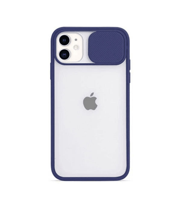 Carcasa cubre cámara iPhone 12/12 PRO Azul