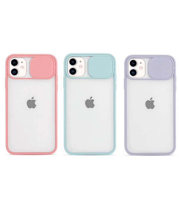 Carcasa iPhone 12/12 Pro Cubre Cámara Colores