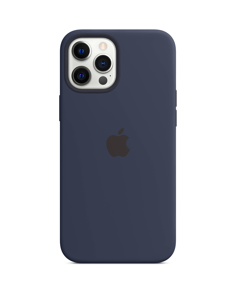 Funda Carcasa Silicona iPhone 12/12 PRO Magsafe Azul