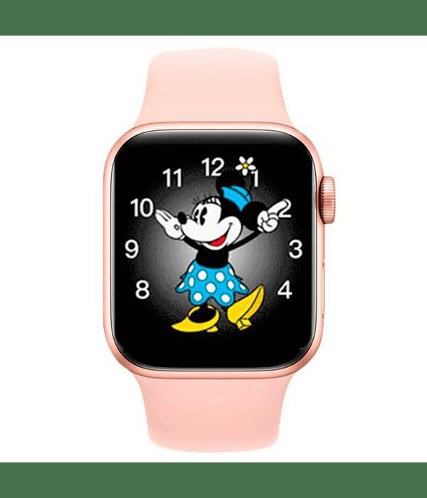 Reloj Smart Watch Rosado Contesta Llamada Android iOS