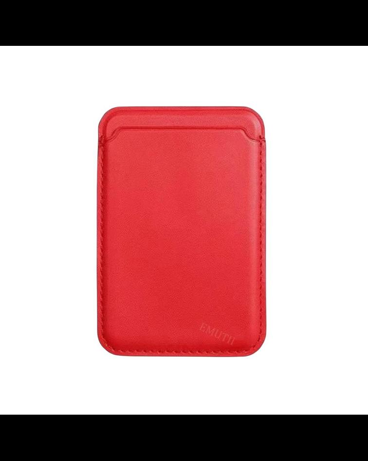 Tarjetero Magnético MagSafe iPhone 12 Rojo