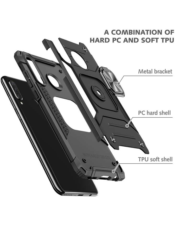Carcasa Huawei P30 Lite Armor Anti Golpes anillo Colores