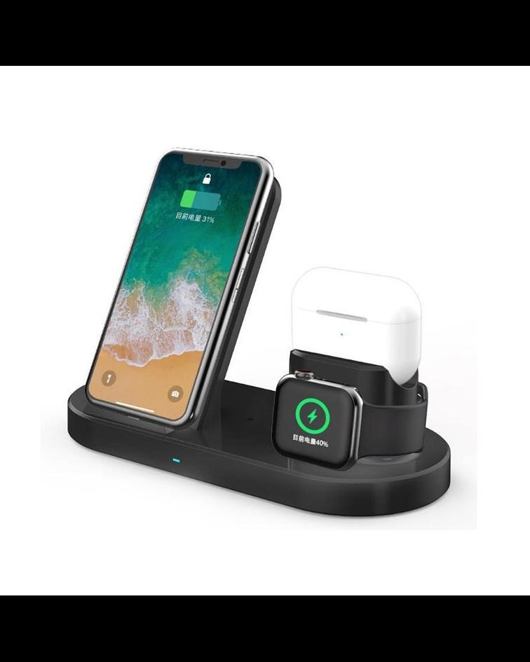 Cargador 3 en 1 Celular-Airpods-SmartWatch