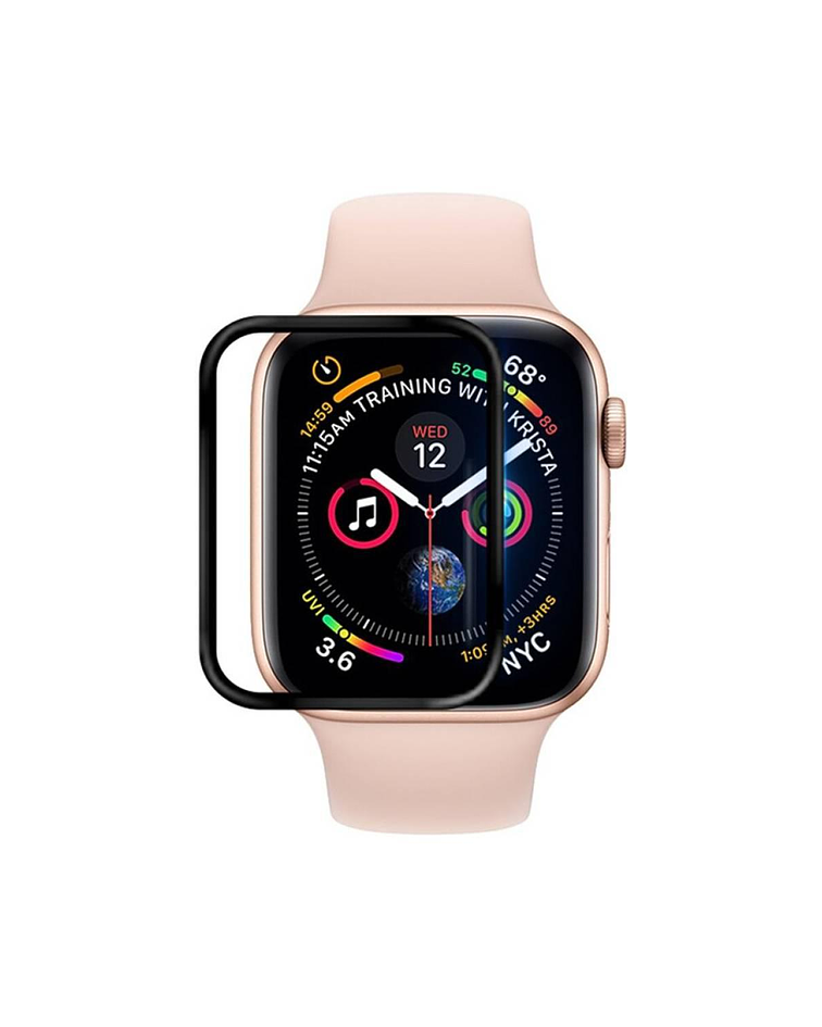 Lámina Silicona Apple Watch 42 mm borde Negro