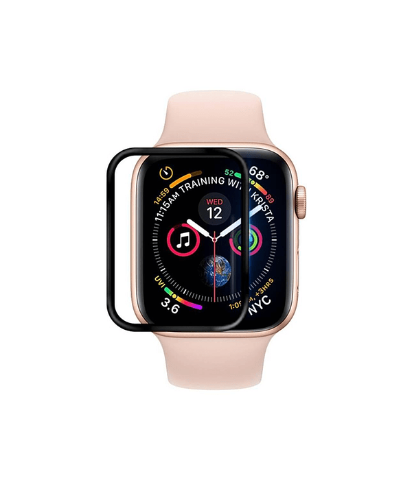 Lámina Silicona Apple Watch 44 mm borde Negro