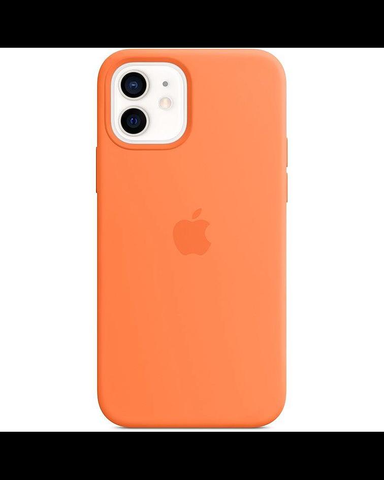 Funda Carcasa Silicona iPhone 12/12 PRO Magsafe Orange