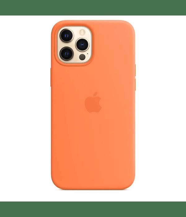 Funda Carcasa Silicona iPhone 12 PRO MAX Magsafe Orange