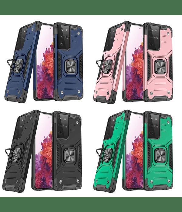 Carcasa Samsung S21 Ultra Armor Anti Golpes anillo Colores