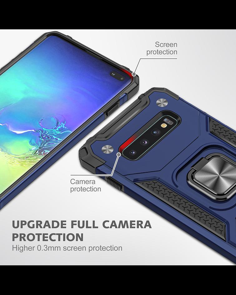 Carcasa Samsung S10 Armor Anti Golpes anillo Colores