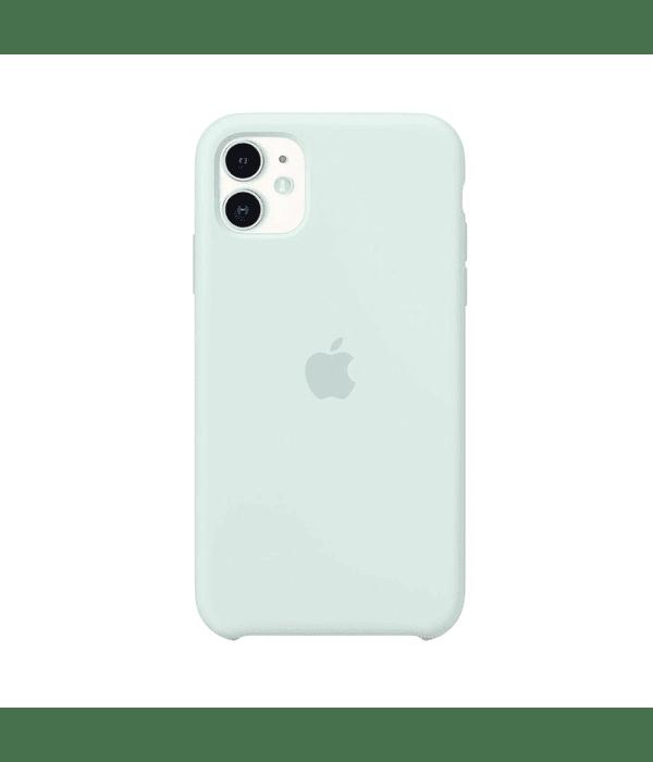 Carcasa silicona iPhone 11 Menta