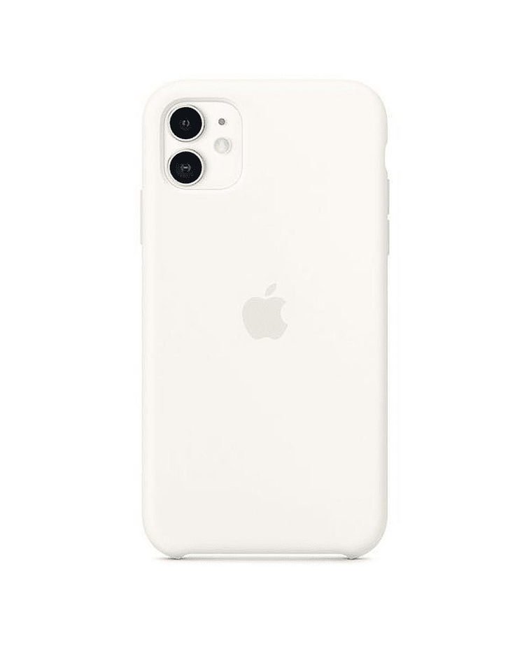 Carcasa silicona iPhone 11 Blanco