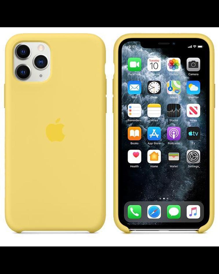 Carcasa silicona iPhone 11 Amarillo