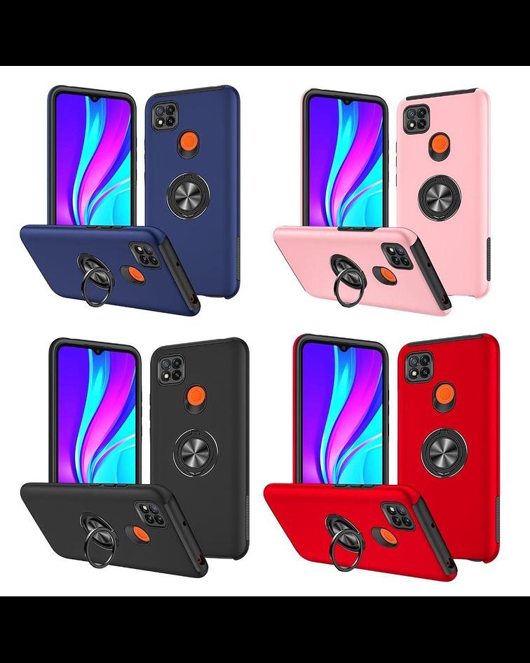 Carcasa Xiaomi Redmi 9C Anti Golpes Anillo Colores