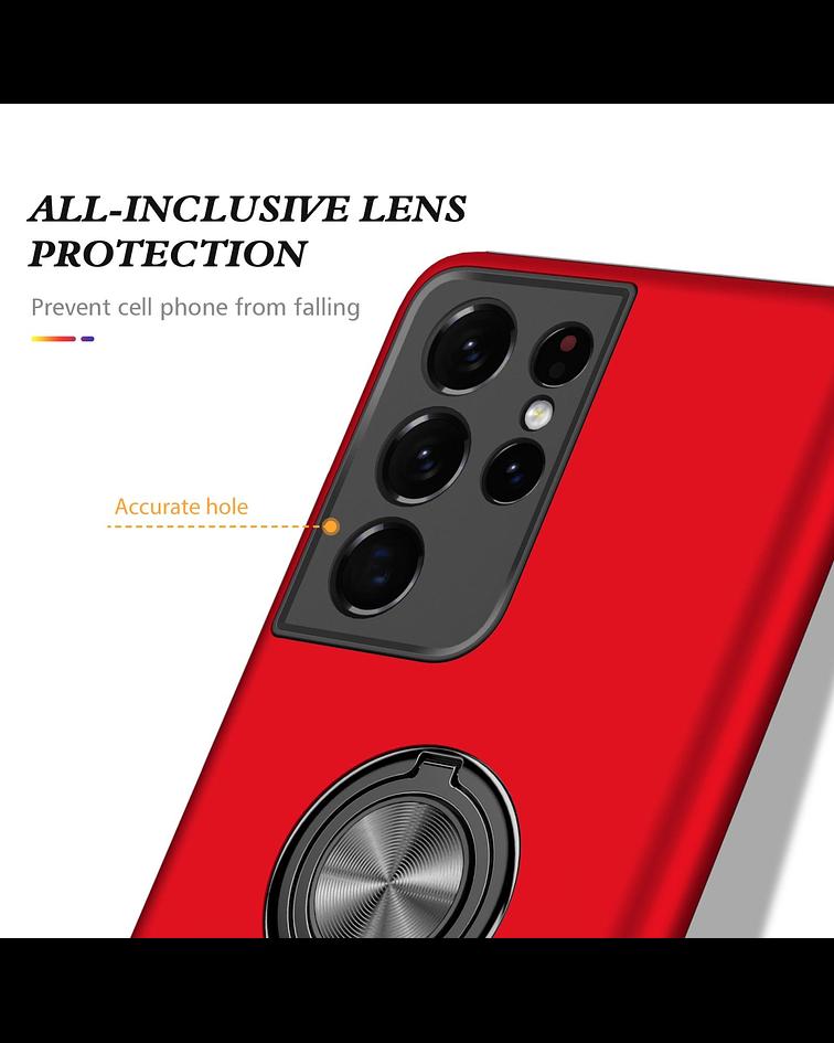 Carcasa Samsung S21 Ultra Anti Golpes Anillo Colores
