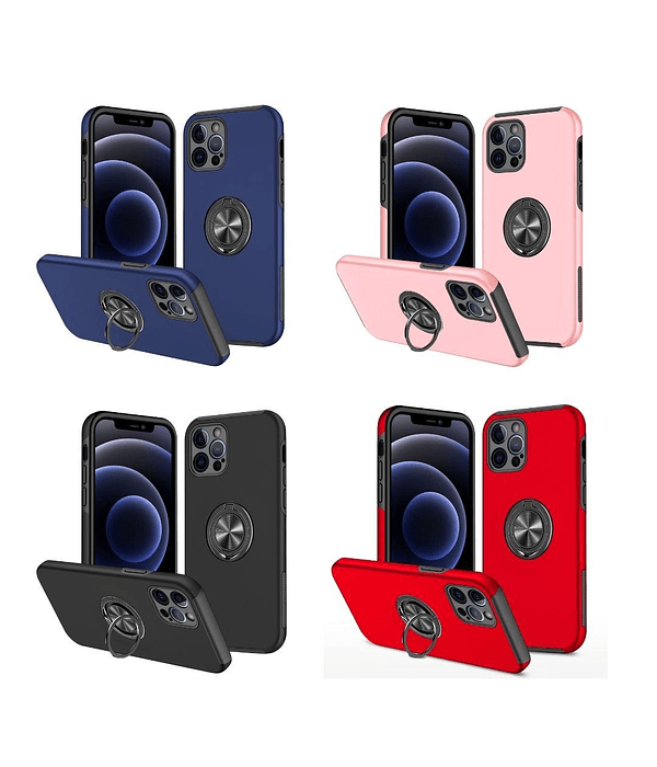 Carcasa iPhone 12 Pro Anti golpes Anillo Colores