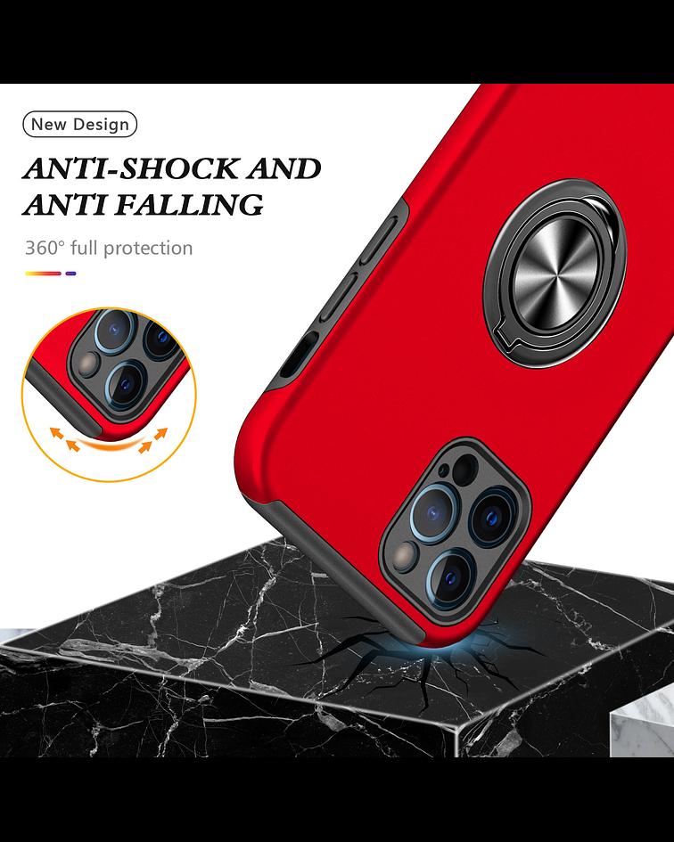 Carcasa iPhone 12 Pro Max Anti golpes Anillo Colores