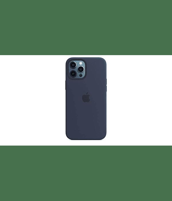 Carcasa Silicona iPhone 12 Pro Max Azul