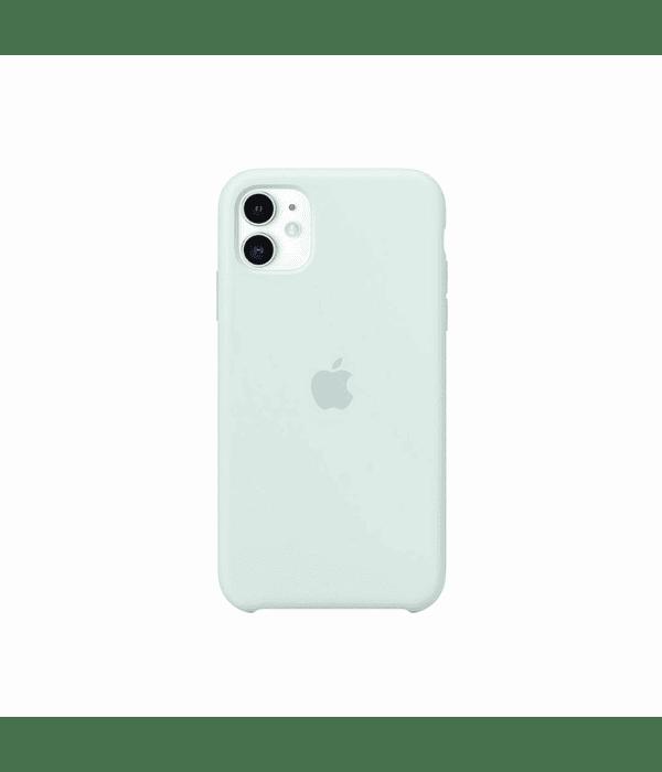 Carcasa Silicona iPhone 12 Pro Max Menta