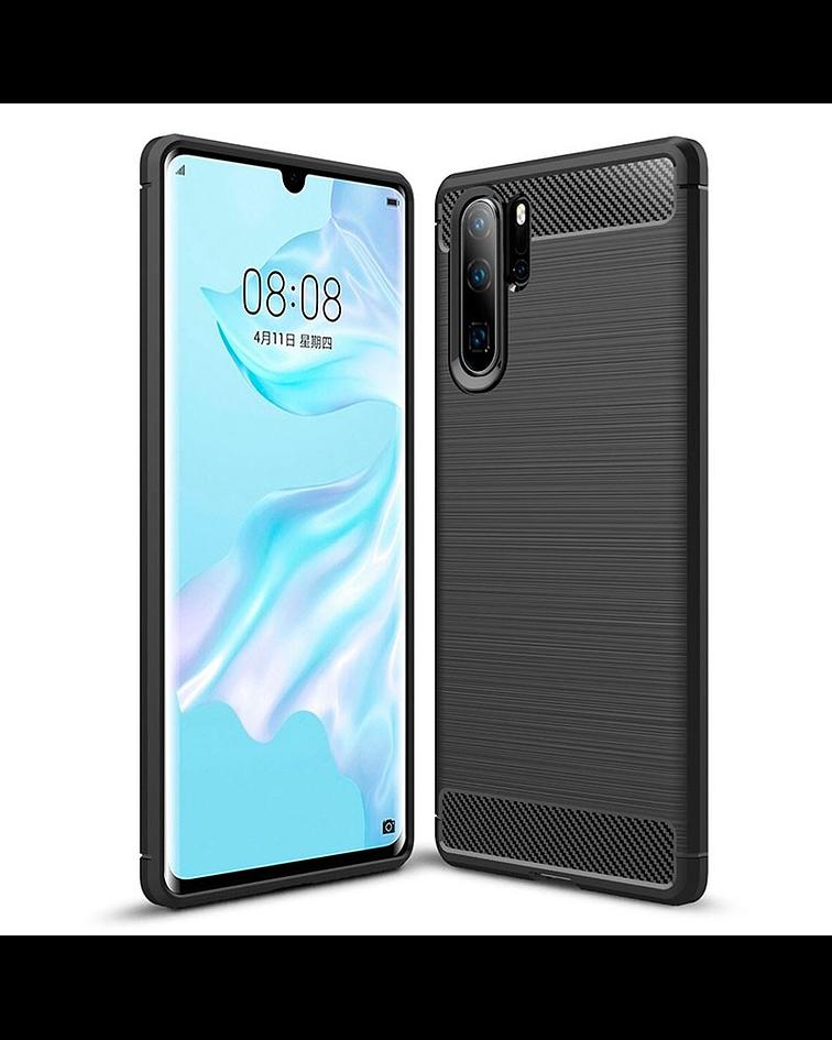 Huawei P30 plus carcasa TPU fibra carbono negro o azul