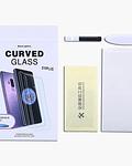 Lámina vidrio pegamento luz UV Samsung S10+