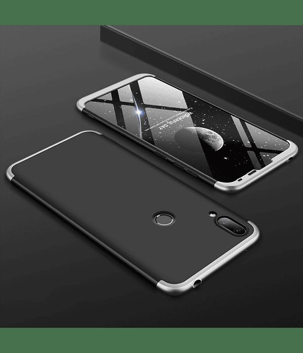 Carcasa for Huawei Y7 (2019) Negro/Plata