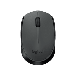 Mouse Inalambrico Logitech 2.4GHz Wireless 3 Buttons Gris/Negro M170