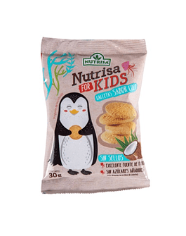 GALLETAS NUTRISA FOR KIDS SABOR COCO (30 g)