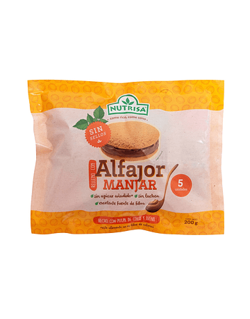 ALFAJOR MANJAR - PACK X5 UDS