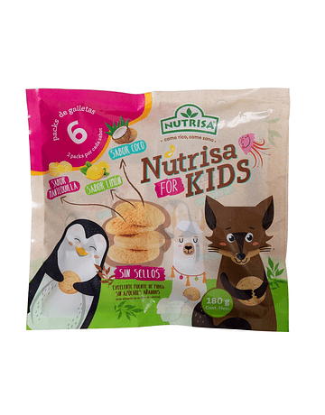 GALLETAS NUTRISA FOR KIDS SURTIDO X6 UDS